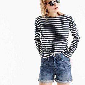 J. Crew Brixton Wash High Rise Denim Shorts